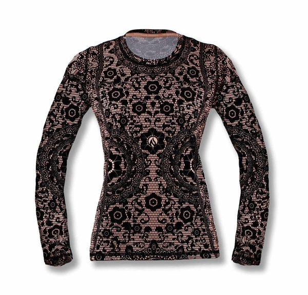 INKnBURN Women's FBF Black Lace Long Sleeve Tech Shirt