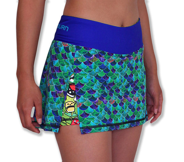 INKnBURN Women's Mermaid Sports Skirt