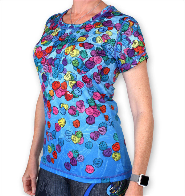 INKnBURN Women's Candy Heart Tech Shirt s/s