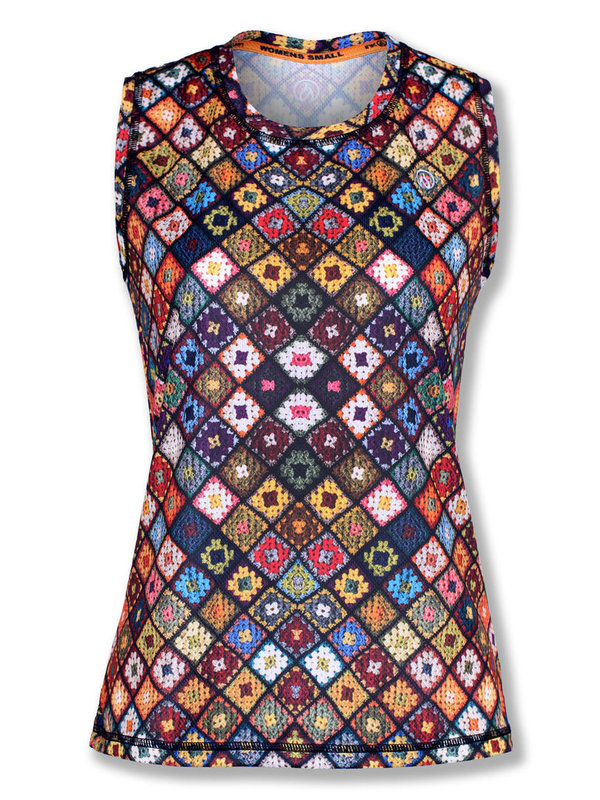 INKnBURN Women's  Boho Sleeveless Tech Shirt