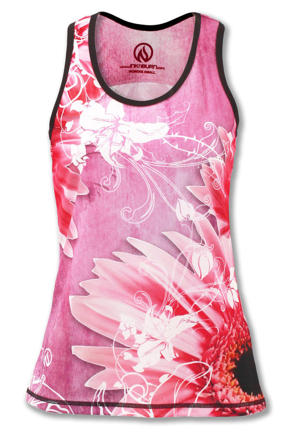 INKnBURN Women's Wildflower Singlet