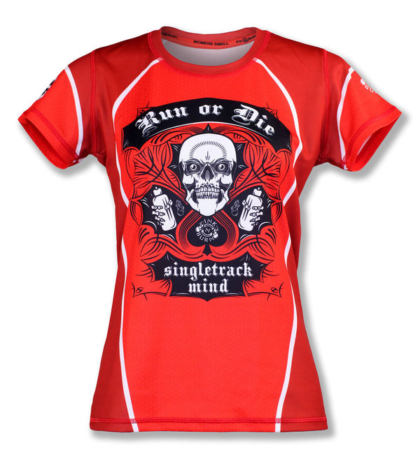 INKnBURN Women's Red Run or Die Tech Shirt