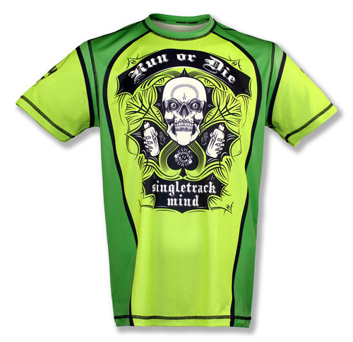INKnBURN Men's Green Run or Die Tech Shirt