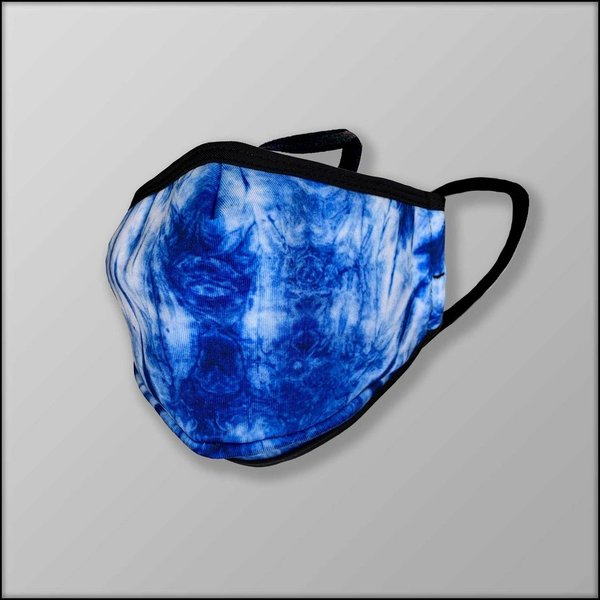 INKnBURN Shibori Ray 3-Layer Face Mask