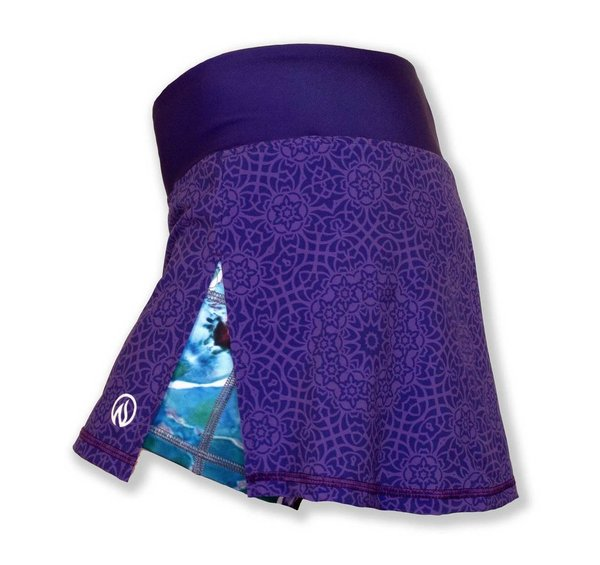 INKnBURN Women's Violet Mandala Sports Skirt