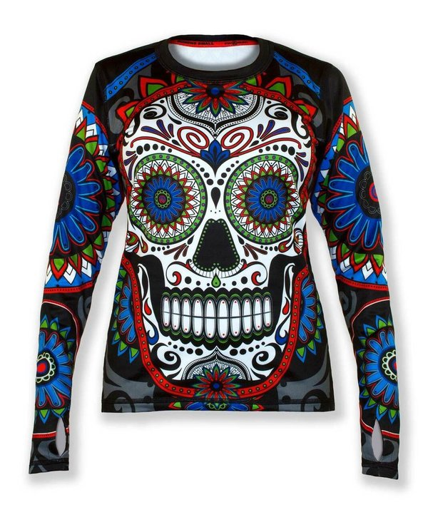 INKnBURN Women's Calavera Pullover with Thumbholes