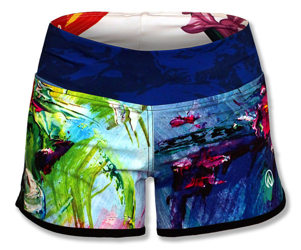INKnBURN Women's Painted Rose Shorts